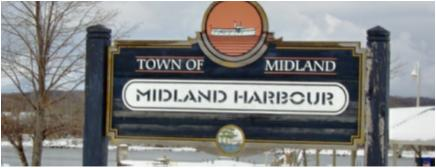 Midland Harbour Sign